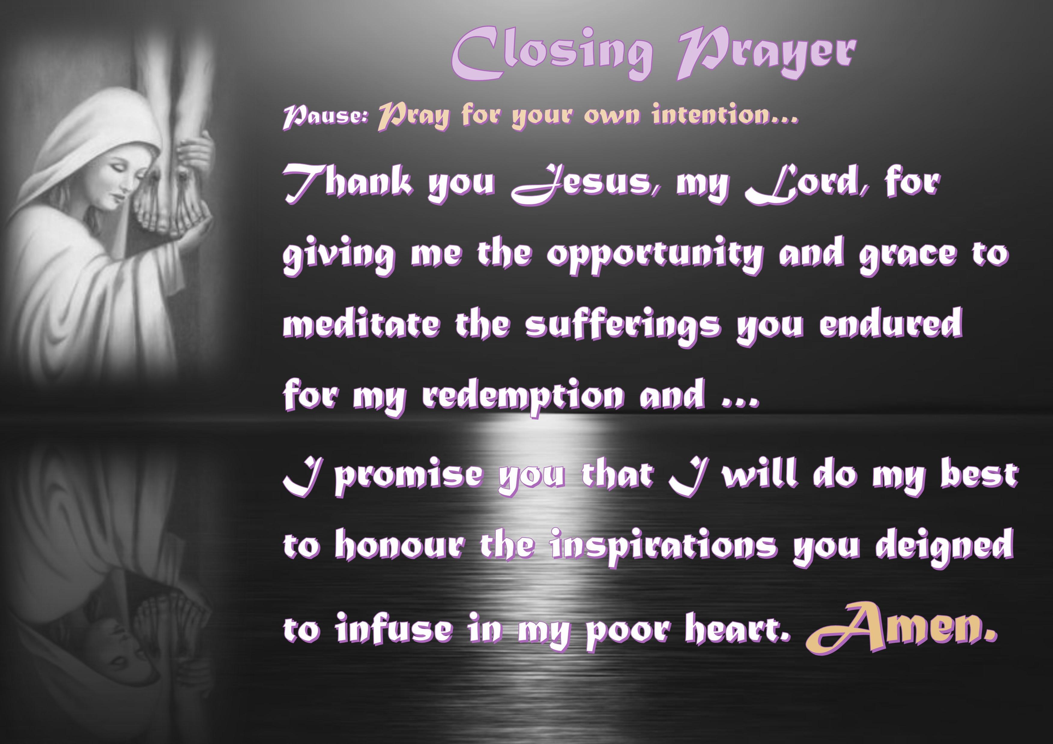 closing prayer on hope
