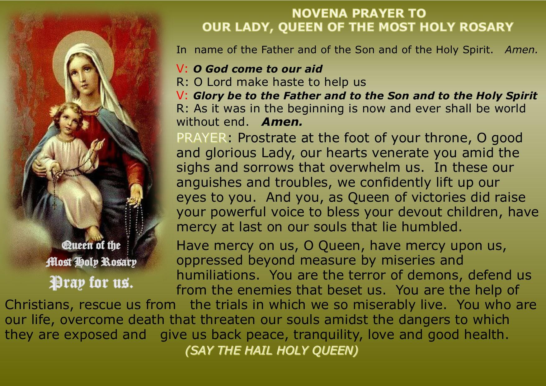 the rosary prayer